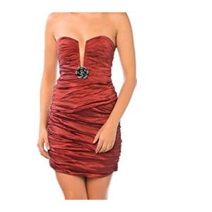 BCBG MaxAxria Tristina Dress Ruby Red Size 0